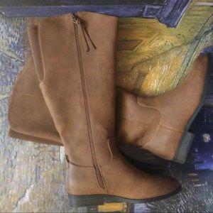 Universal Thread Wide Calf Knee High Zipper Boots